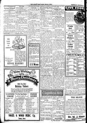 Lenox Time Table from Lenox, Iowa on December 12, 1935 · Page 8