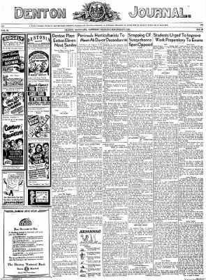 Denton Journal from Denton, Maryland on December 3, 1938 · Page 1