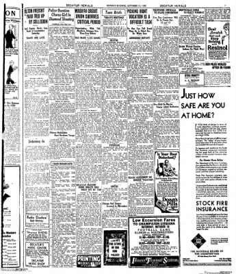 Decatur Evening Herald from Decatur, Illinois on October 13, 1930 · Page 7