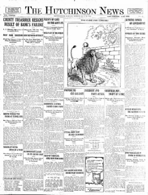 The Hutchinson News from Hutchinson, Kansas on July 6, 1923 · Page 1
