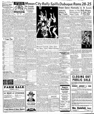 Globe-Gazette from Mason City, Iowa on December 31, 1948 · Page 6