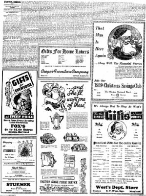 Denton Journal from Denton, Maryland on December 10, 1938 · Page 3