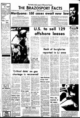 The Brazosport Facts from Freeport, Texas on June 11, 1973 · Page 1