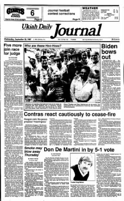 Ukiah Daily Journal from Ukiah, California on September 23, 1987 · Page 1