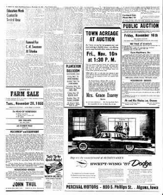 The Algona Upper Des Moines from Algona, Iowa on November 13, 1956 · Page 16