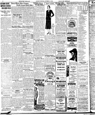 Decatur Evening Herald from Decatur, Illinois on October 13, 1930 · Page 12