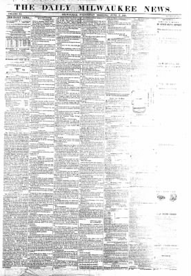 The Daily Milwaukee News from Milwaukee, Wisconsin on June 8, 1859 · Page 1