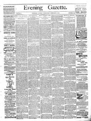 Sterling Daily Gazette from Sterling, Illinois on February 8, 1888 · Page 1