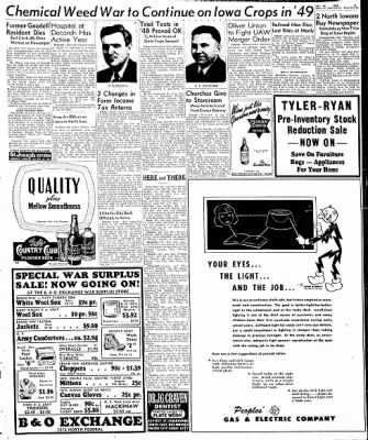 Globe-Gazette from Mason City, Iowa on December 30, 1948 · Page 16