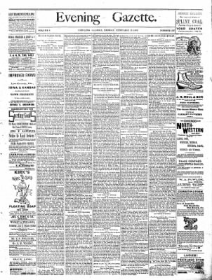 Sterling Daily Gazette from Sterling, Illinois on February 13, 1888 · Page 1