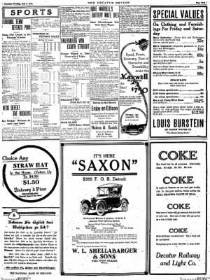 The Daily Review from Decatur, Illinois on July 9, 1914 · Page 5