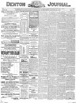 Denton Journal from Denton, Maryland on March 26, 1898 · Page 1