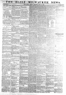 The Daily Milwaukee News from Milwaukee, Wisconsin on June 17, 1859 · Page 1