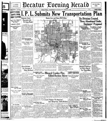 Decatur Evening Herald from Decatur, Illinois on October 16, 1930 · Page 1