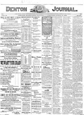 Denton Journal from Denton, Maryland on April 2, 1898 · Page 1