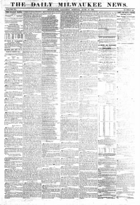 The Daily Milwaukee News from Milwaukee, Wisconsin on June 18, 1859 · Page 1