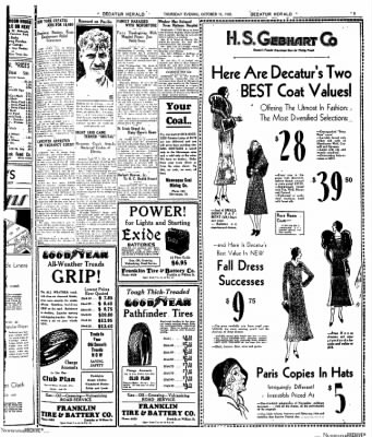 Decatur Evening Herald from Decatur, Illinois on October 16, 1930 · Page 5