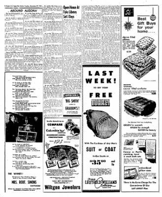 The Algona Upper Des Moines from Algona, Iowa on November 27, 1956 · Page 8