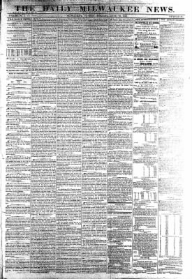 The Daily Milwaukee News from Milwaukee, Wisconsin on June 19, 1859 · Page 1