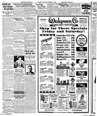 Decatur Evening Herald from Decatur, Illinois on October 16, 1930 · Page 8