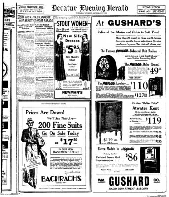 Decatur Evening Herald from Decatur, Illinois on October 16, 1930 · Page 9