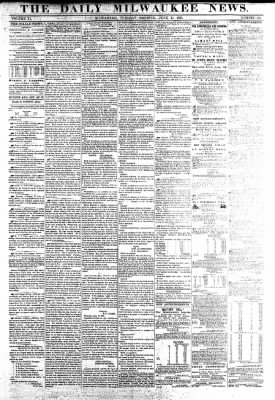 The Daily Milwaukee News from Milwaukee, Wisconsin on June 21, 1859 · Page 1