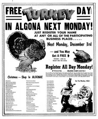 The Algona Upper Des Moines from Algona, Iowa on November 27, 1956 · Page 14