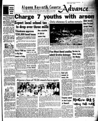 Kossuth County Advance from Algona, Iowa on July 25, 1966 · Page 1