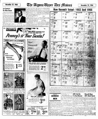 The Algona Upper Des Moines from Algona, Iowa on November 27, 1956 · Page 17
