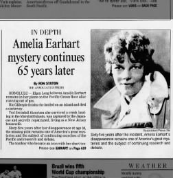 Amelia Earhart mystery continues