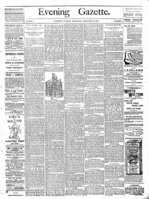 Sterling Daily Gazette from Sterling, Illinois on February 23, 1888 · Page 1