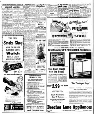 The Algona Upper Des Moines from Algona, Iowa on December 4, 1956 · Page 8