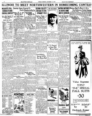 Decatur Evening Herald from Decatur, Illinois on October 17, 1930 · Page 13