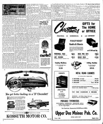 The Algona Upper Des Moines from Algona, Iowa on December 4, 1956 · Page 17