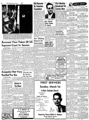 Pampa Daily News from Pampa, Texas on February 27, 1959 · Page 6