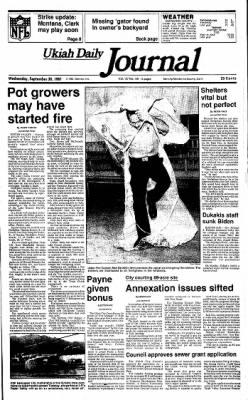 Ukiah Daily Journal from Ukiah, California on September 30, 1987 · Page 1