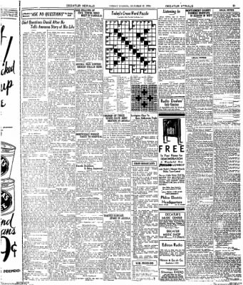 Decatur Evening Herald from Decatur, Illinois on October 17, 1930 · Page 24