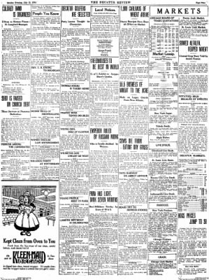 The Daily Review from Decatur, Illinois on July 13, 1914 · Page 9