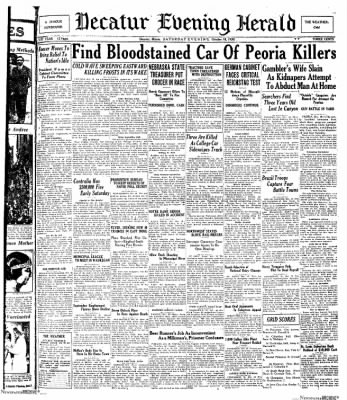 Decatur Evening Herald from Decatur, Illinois on October 18, 1930 · Page 1