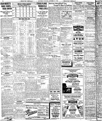 Decatur Evening Herald from Decatur, Illinois on October 18, 1930 · Page 10
