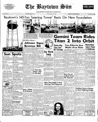 The Baytown Sun from Baytown, Texas on March 16, 1966 · Page 1