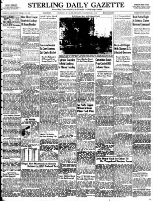 Sterling Daily Gazette from Sterling, Illinois on November 3, 1941 · Page 1
