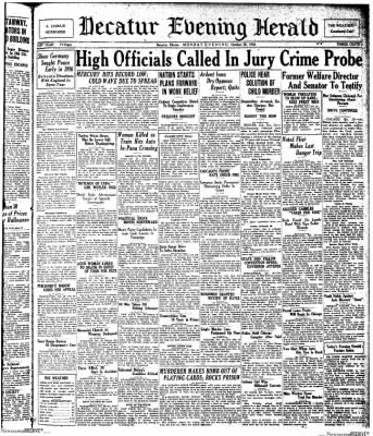 Decatur Evening Herald from Decatur, Illinois on October 20, 1930 · Page 1