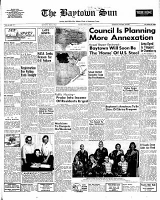 The Baytown Sun from Baytown, Texas on March 17, 1966 · Page 1