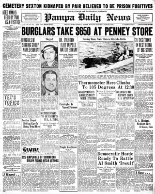 Pampa Daily News from Pampa, Texas on June 22, 1936 · Page 1