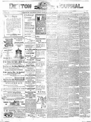 Denton Journal from Denton, Maryland on July 30, 1898 · Page 1