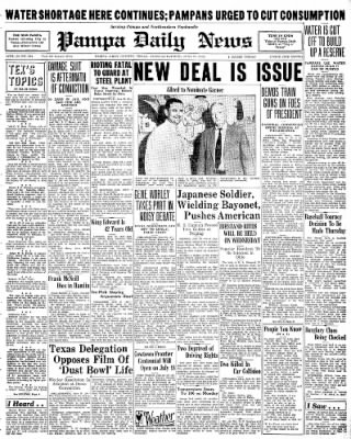 Pampa Daily News from Pampa, Texas on June 23, 1936 · Page 1