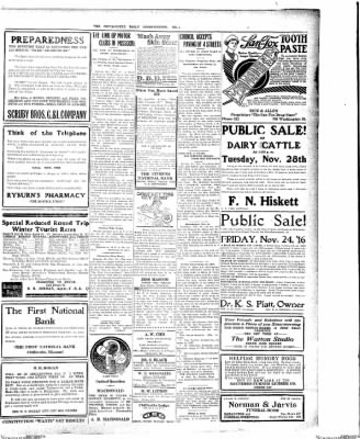 The Chillicothe Constitution-Tribune from Chillicothe, Missouri on November 21, 1916 · Page 7
