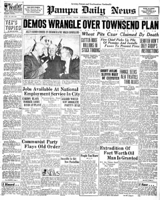 Pampa Daily News from Pampa, Texas on June 24, 1936 · Page 1
