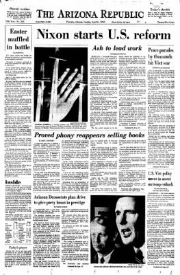 Arizona Republic from Phoenix, Arizona on April 6, 1969 · Page 1